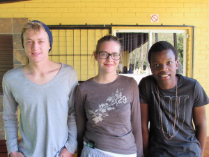 Charl-Bruce, Robyn and Minnie, our DHL summer program students